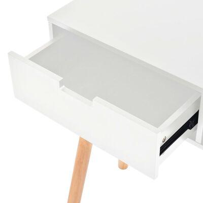 vidaXL Konzolna mizica iz masivne borovine 80x30x72 cm bela