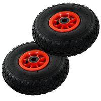vidaXL Kolesa za ročni voziček 2 kosa guma 3,00-4 (260x85)