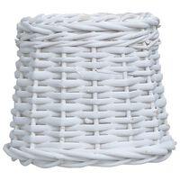 vidaXL Senčilo za svetilko pleteno 20x15 cm belo