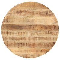 vidaXL Mizna plošča iz trdnega mangovega lesa okrogla 25-27 mm 50 cm