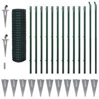 vidaXL Evro ograja iz jekla 25x1,5 m zelena