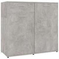 vidaXL Komoda betonsko siva 80x36x75 cm iverna plošča