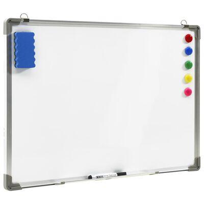 vidaXL Magnetna piši-briši tabla bela 90x60 cm jeklo