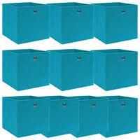 vidaXL Škatle za shranjevanje x 10 baby modre 32x32x32 cm blago