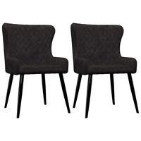vidaXL Jedilni stoli 2 kosa črn žamet