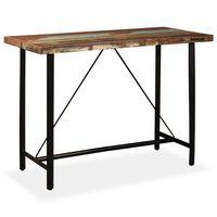 vidaXL Barska miza iz trdnega predelanega lesa 150x70x107 cm