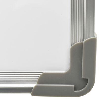 vidaXL Magnetna piši-briši tabla bela 50x35 cm jeklo