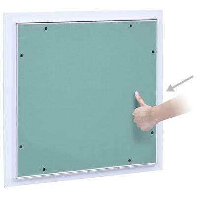 vidaXL Revizijska vrata z alu okvirjem in mavčno ploščo 400x400 mm