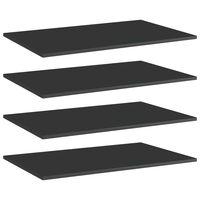 vidaXL Dodatne police za omaro 4 kosi visok sijaj črne 80x50x1,5 cm