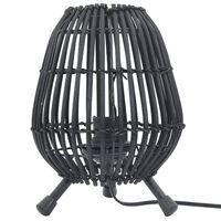 vidaXL Namizna stoječa svetilka iz vrbe črna 60 W 20x27 cm E27