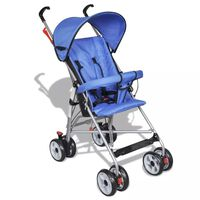 Sodobni otroški voziček za dojenčke Odličen za potovanja Modre barve