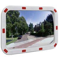 Konveksno prometno ogledalo pravokotno 40x60 cm z odsevniki