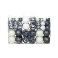 vidaXL Božično novoletne kroglice 100 kosov 6 cm bele/sive