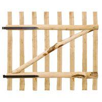 vidaXL Enojna vrata za ograjo leska 100x90 cm