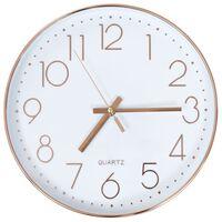 vidaXL Stenska ura 30 cm rožnato zlata