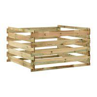 vidaXL Vrtni kompostnik iz letvic 120x120x70 cm impregnirana borovina