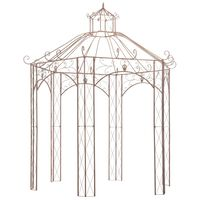 vidaXL Vrtni paviljon antično rjav 3 m železen