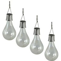 Luxform Solarne vrtne LED luči za zabavo 4 kosi prozorne 95420