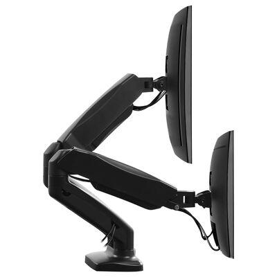 """vidaXL Namizni nosilec za TV monitor 13""""-27"""" z vzmetjo in dvojno roko"""