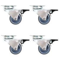 vidaXL Dvojna gibljiva kolesa 24 kosov 50 mm