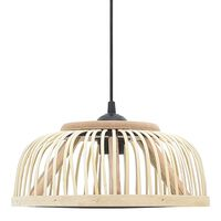 vidaXL Viseča svetilka iz bambusa 34x14,5 cm 40 W polokrogla E27