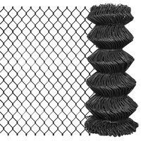 vidaXL Verižna ograja iz jekla 25x0,8 m siva