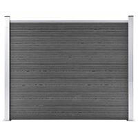 vidaXL Ograjni panel WPC 180x146 cm črn