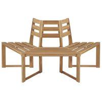 vidaXL Drevesna klop pol-šesterokotna 160 cm trden akacijev les
