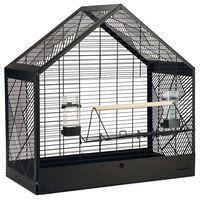 Beeztees Ptičja kletka Yara črna 71x35x70 cm kovinska