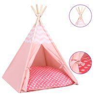 vidaXL Mačji tipi šotor z vrečo peach skin roza 60x60x70 cm