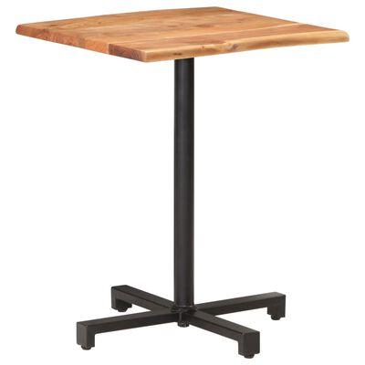 vidaXL Bistro miza z naravnimi robovi 60x60x75 cm trden akacijev les