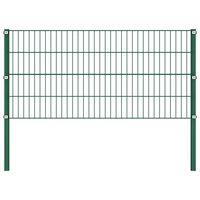 vidaXL Ograjni paneli s stebrički železo 1,7x0,8 m zeleni