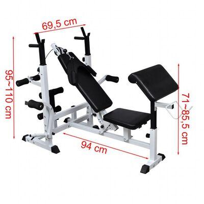 vidaXL Večnamenska vadbena klop bench