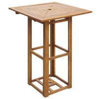 vidaXL Bistro miza 75x75x110 cm trden akacijev les