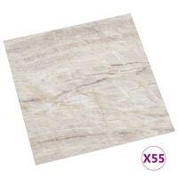 vidaXL Samolepilne talne plošče 55 kosov PVC 5,11 m² bež