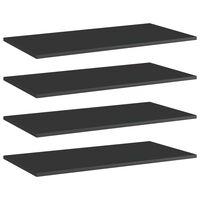 vidaXL Dodatne police za omaro 4 kosi visok sijaj črne 80x40x1,5 cm