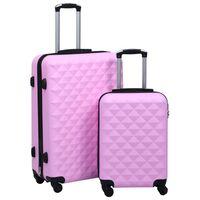 vidaXL Trdi potovalni kovčki 2 kosa roza ABS