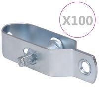 vidaXL Napenjalci žice 100 kosov 90 mm jeklo srebrne barve