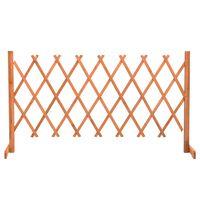 vidaXL Vrtna mrežasta ograja oranžna 150x80 cm trden les jelke