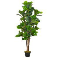 vidaXL Umetna rastlina figovec z loncem zelena 152 cm