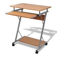 Računalniška miza z izvlečno polico za tipkovnico Rjavi zaključek