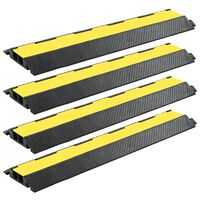 vidaXL Pohodna zaščita za kable 4 kosi 2 kanala guma 101,5 cm