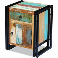 vidaXL Nočna omarica iz trdnega predelanega lesa