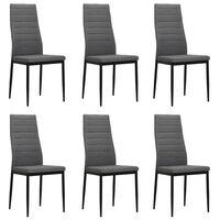 vidaXL Jedilni stoli 6 kosov svetlo sivo blago