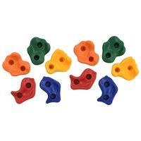 vidaXL Plezalni oprimki 10 kosov večbarvni PE