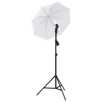 vidaXL Fotografski komplet s svetilkami in mehčali