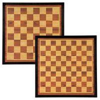 Abbey Game Šahovnica in damovnica 41x41 cm les rjava in bež