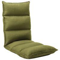 vidaXL Zložljiv stol / blazina zeleno blago