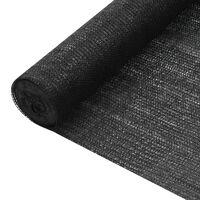 vidaXL Zaščitna mreža črna 1,2x25 m HDPE 150 g/m²