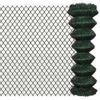 vidaXL Mrežna ograja pocinkano jeklo 1,25x15 m zelena
